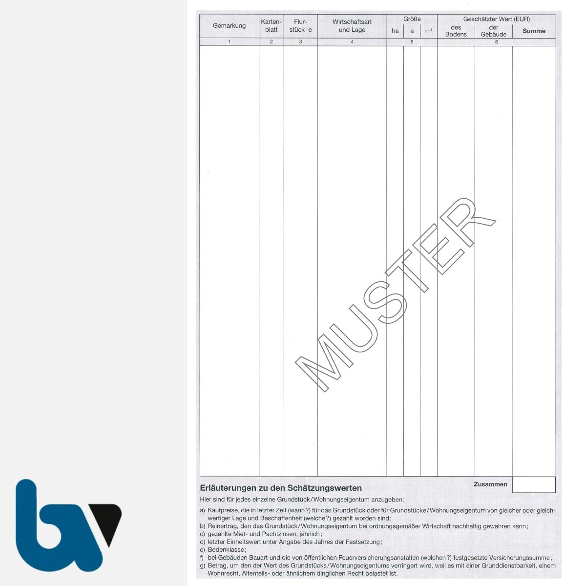 3/186-2a Schätzungsurkunde Grundstück Wohnungseigentum Inventar Ortsgericht Hessen Solo DIN A4 Seite 2 | Borgard Verlag GmbH