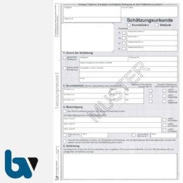3/186-3 Schätzungsurkunde Ortsgericht Hessen Grundstück Gebäude mit Durchschrift Kopie weiß DIN A4 Seite 1 | Borgard Verlag GmbH