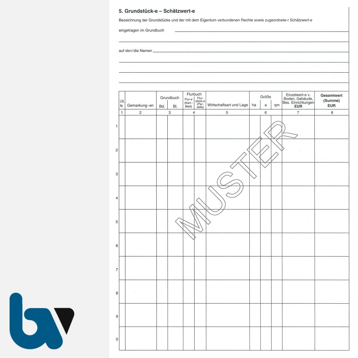 3/186-6 Schätzungsurkunde Ortsgericht Hessen Grundstück Gebäude mit Durchschrift Kopie DIN A4 Seite 2 | Borgard Verlag GmbH