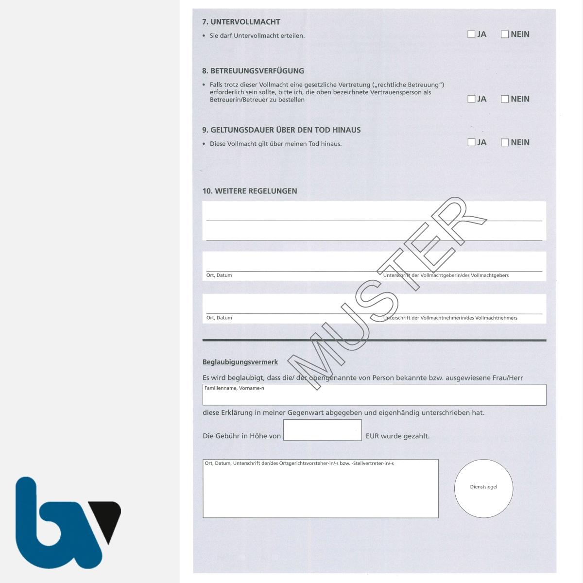Borgard Verlag Shop Vorsorgevollmacht Hessen Langfassung
