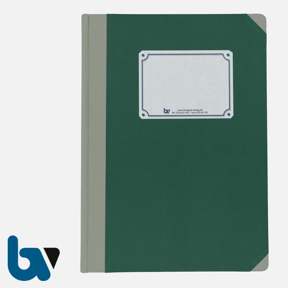 3/190-2 lin Tagebuch Ortsgericht Hessen Buch gebunden liniert Leinen DIN A4 Außen 2 | Borgard Verlag GmbH
