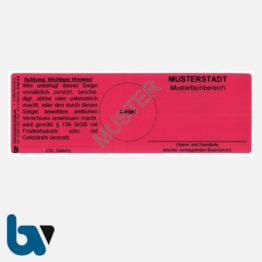 0/191-6 Sicherheitsiegel Sicherheitsetikett Sicherheitsfolie Verschluss manipulationssicher Void Effekt rückstandsfrei Ablösung wetterfest rot 150 50 mm Muster 01 | Borgard Verlag GmbH