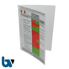 0/416-2 Aushang Darstellung Vorschriften Jugendschutzgesetz Juschg grafisch Auszug Alkopop Folie kaschiert farbig Lochung Faltblatt DIN A4 Außen | Borgard Verlag GmbH