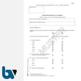 0/427-4.4 Ärztliche Bescheinigung für Arbeitgeber Erstuntersuchung Jugendarbeitsschutzgesetz Anlage 4 JArbSchG DIN A4 Seite 1 | Borgard Verlag GmbH