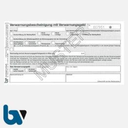 0/511-1 Verwarnungsbescheinigung Nichterfüllung Meldepflicht Mitteilung Verwarnungsgeld fortlaufend nummeriert 3-fach selbstdurchschreibend DIN lang Seite 1| Borgard Verlag GmbH