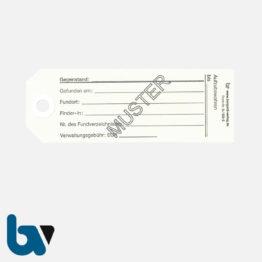 0/525-2 Fundanhänger Fundsache Lochung verstärkt Vorderseite | Borgard Verlag GmbH
