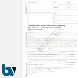 12/207-3 Aufforderung Abgabe Grundsteuer Erklärung 2-fach selbstdurchschreibend DIN A4 Seite 1 | Borgard Verlag GmbH