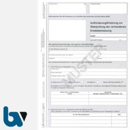 12/207-5 Aufforderung Erklärung Überprüfung Vorhanden Ersatzbemessung Grundsteuer Berechnung Hinweise 3-fach selbstdurchschreibend DIN A4 Seite 1 | Borgard Verlag GmbH