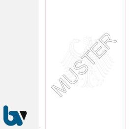 0/168-5usb Sicherheitspapier Standesamt Personenstand Urkunde Kopierschutz Scanschutz Dokument Security ungelocht Bundesadler rot Schmuckrand DIN A4 | Borgard Verlag GmbH