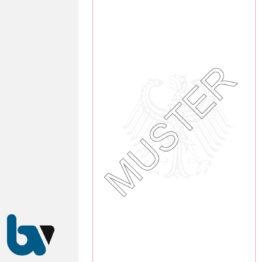 0/168-6usb Urkundenpapier Standesamt Personenstand Urkunde Register Dokument ungelocht Bundesadler rot Schmuckrand 100gr Stammbuch DIN A4 | Borgard Verlag GmbH