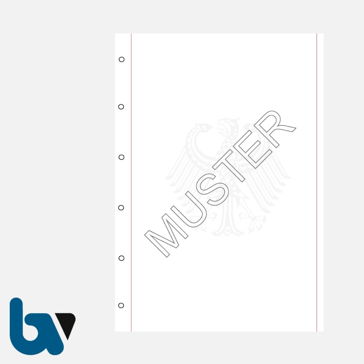 0/168-8gsb Urkundenpapier Standesamt Personenstand Urkunde Register Dokument 6-fach Lochung gelocht Bundesadler rot Schmuckrand 100gr Stammbuch Format 130 200 | Borgard Verlag GmbH