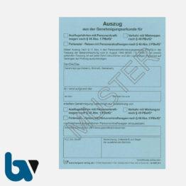 0/489-4 Auszug Genehmigungsurkunde Personenbeförderung PBefG Ausflugsfahrten Verkehr Mietwagen Reisen Ferienziel 2-fach selbstdurchschreibend Neobond blau DIN A6   Borgard Verlag GmbH