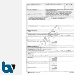 0/401-1.1 Gewerbe Anmeldung Gewa1 Paragraph 14 55c Gewerbeordnung 2-fach selbstdurchschreibend DIN A4 Seite 1 | Borgard Verlag GmbH