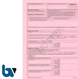 0/403-1.1 Gewerbe Abmeldung Gewa3 Paragraph 14 55c Gewerbeordnung 2-fach selbstdurchschreibend DIN A4 Seite 1 | Borgard Verlag GmbH
