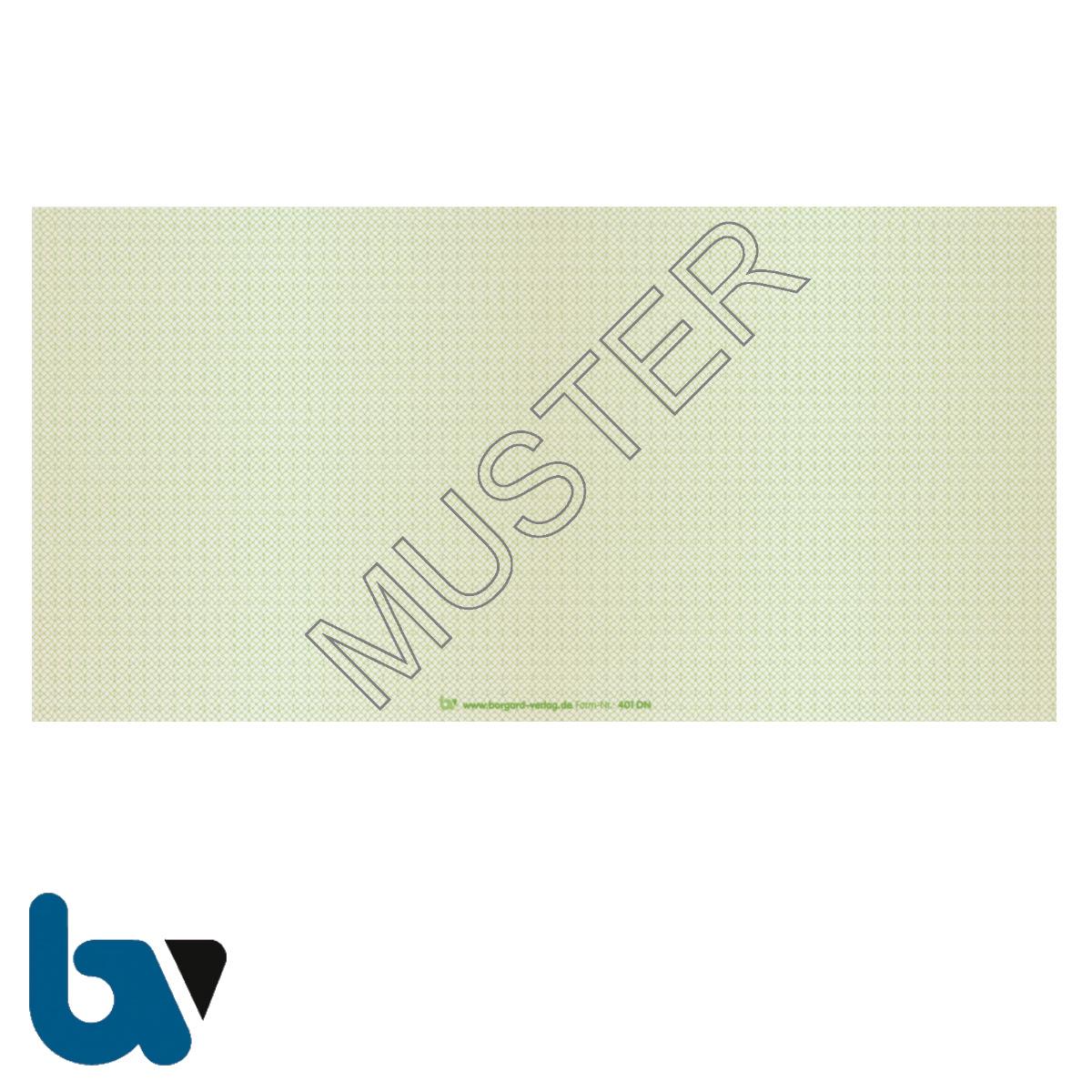 401dn Beiblatt Zulassungsbescheinigung Teil 1 Fahrzeugschein Neobond Guilloche zweifarbig grün braun 210 105 | Borgard Verlag GmbH