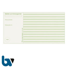 401 k Beiblatt Zulassungsbescheinigung Teil 1 Fahrzeugschein Neobond einfarbig grün 210 105 | Borgard Verlag GmbH