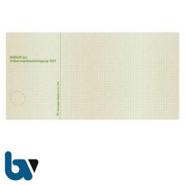 401 S Beiblatt Zulassungsbescheinigung Teil 1 Fahrzeugschein Neobond Guilloche zweifarbig grün braun 210 105 | Borgard Verlag GmbH
