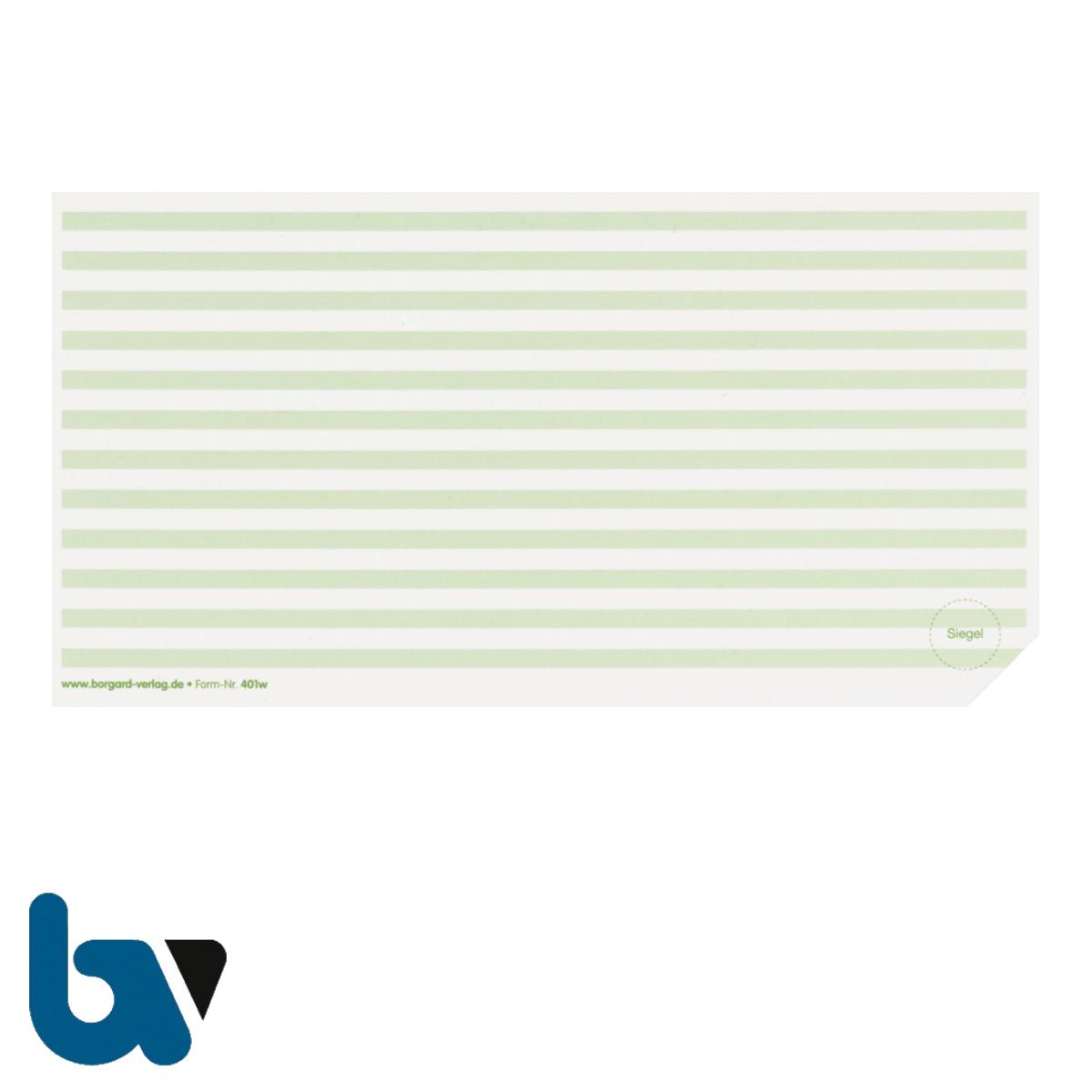 401 w Beiblatt Zulassungsbescheinigung Teil 1 Fahrzeugschein Neobond einfarbig grün 210 105 | Borgard Verlag GmbH