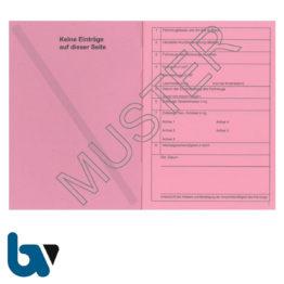 403-24.1 Fahrzeugscheinheft rot Kennzeichen §16 Anlage 9 FzV Fahrzeug Zulassungsverordnung Neobond rosa DIN A7 Seite 2 | Borgard Verlag GmbH