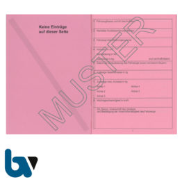 403-24.2 Fahrzeugscheinheft rot Kennzeichen §16 Anlage 9 FzV Fahrzeug Zulassungsverordnung Neobond rosa DIN A7 Seite 2 | Borgard Verlag GmbH