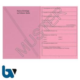 403-24 Fahrzeugscheinheft rot Kennzeichen §16 Anlage 9 FZV Fahrzeug Zulassungsverordnung Neobond rosa DIN A7 Seite 2 | Borgard Verlag GmbH