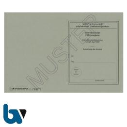411 International Führerschein Abkommen 1926 §25b Anlage 8c FeV Fahrerlaubnis Verordnung Neobond grau Seite 1 | Borgard Verlag GmbH