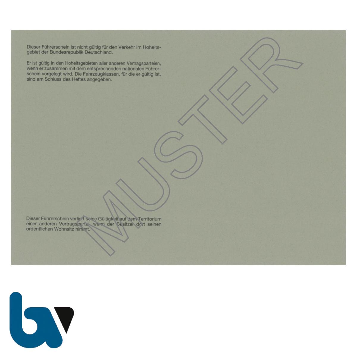 419 International Führerschein Übereinkommen 1968 §25b Anlage 8d FeV Fahrerlaubnis Verordnung Neobond grau Seite 2 | Borgard Verlag GmbH
