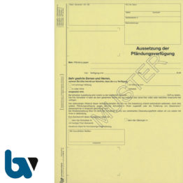 0/815-13 Aussetzung Pfändungsverfügung 4-fach selbstdurchschreibend DIN A4 | Borgard Verlag GmbH