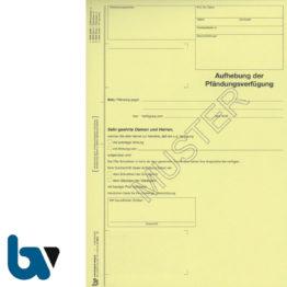 0/815-5 Aufhebung Pfändungsverfügung 4-fach selbstdurchschreibend DIN A4 | Borgard Verlag GmbH