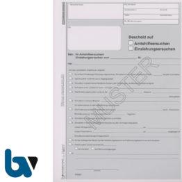 0/823-2 Bescheid Amtshilfe Einziehung Ersuchen Vollstreckungshilfe 2-fach selbstdurchschreibend DIN A4 | Borgard Verlag GmbH