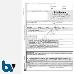 0/826-3 Bestätigung Geld Zuwendung Mitgliedsbeitrag Spende Behörden Muster Paragraph 10b Einkommensteuergesetz EStG 2-fach selbstdurchschreibend DIN A4   Borgard Verlag GmbH
