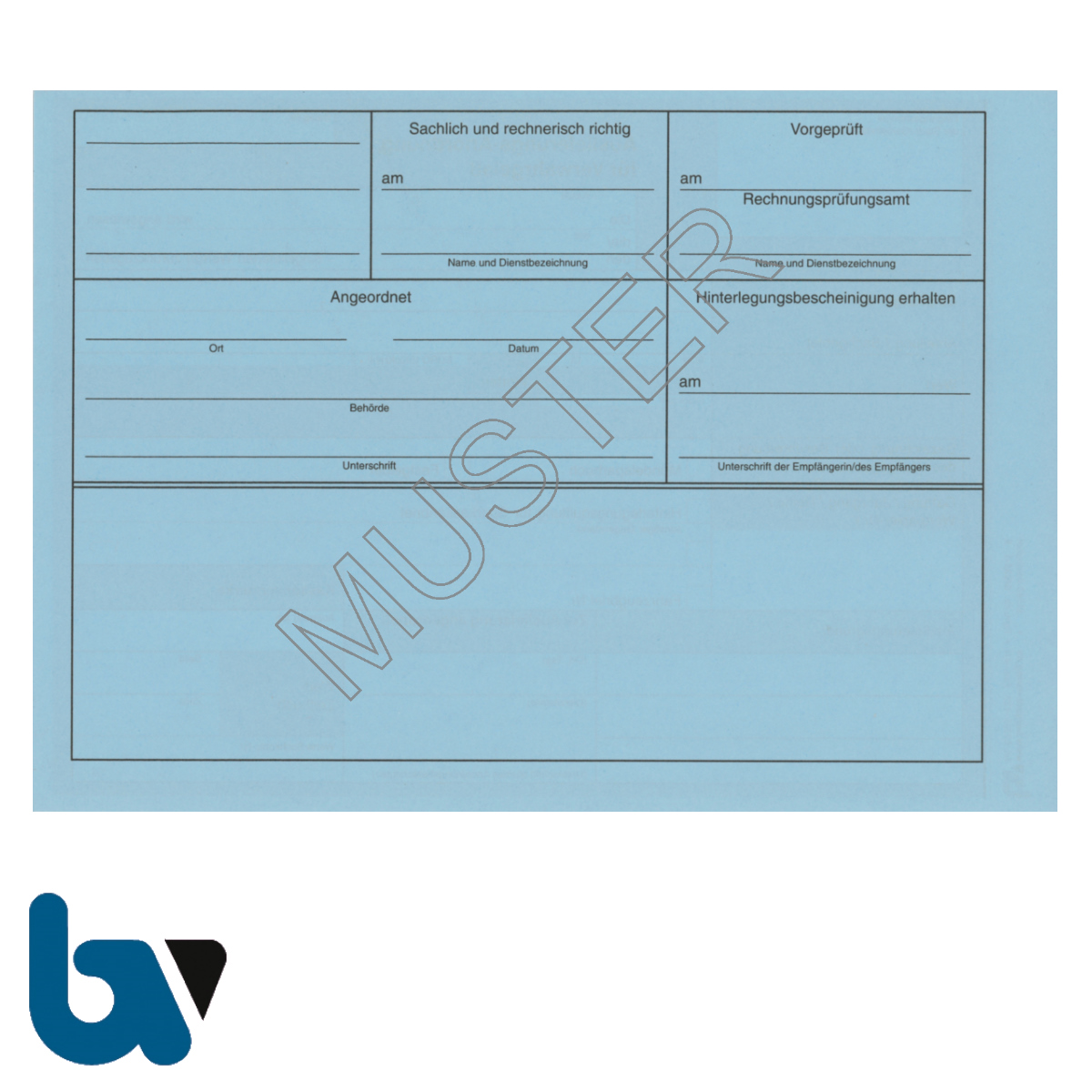 0/835-1 Auslieferungs Anordnung Verwahrgelass blau DIN A5 Rückseite | Borgard Verlag GmbH