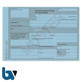 0/835-1 Auslieferungs Anordnung Verwahrgelass blau DIN A5 Vorderseite   Borgard Verlag GmbH