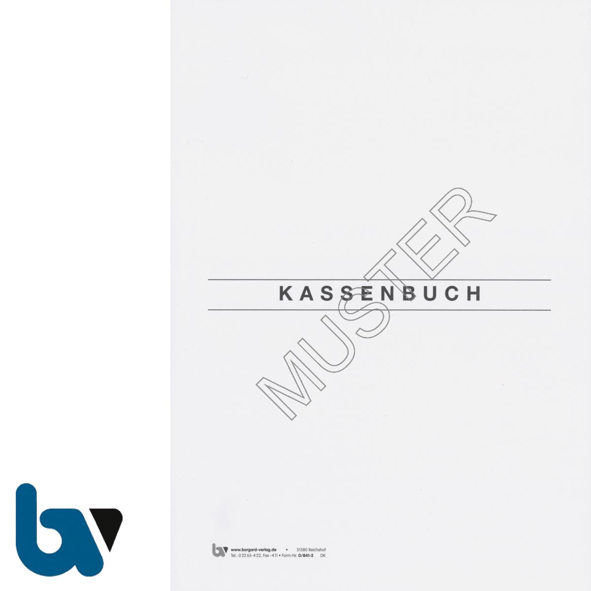0/841-2 Kassenbuch Heft Doppik Doppisch 100 Seiten geheftet Vorderseite | Borgard Verlag GmbH