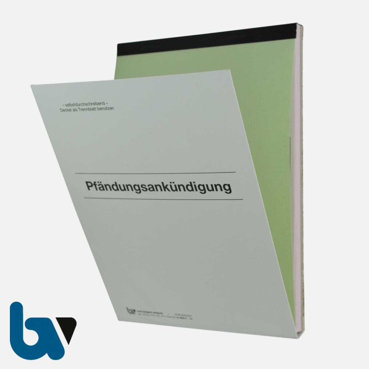 0/846-9 Pfändungsankündigung Auftrag Einschlagdeckel Durchschreibeschutz Schreibschutzdecke perforiert 2-fach selbstdurchschreibend DIN A5 Außen | Borgard Verlag GmbH