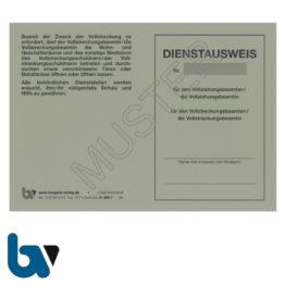 0/881-1 Dienstausweis Vollziehungs Vollstreckung Beamter Beamtin Vollstreckungsmaßnahme bundesweit grau Neobond DIN A6 A7 Vorderseite | Borgard Verlag GmbH