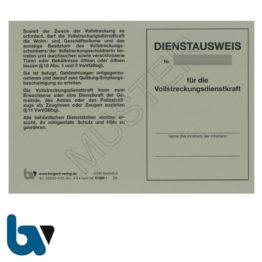 11/881-1 Dienstausweis Vollstreckungsdienstkraft Vollstreckungsmaßnahme Verwaltungsvollstreckungsgesetz Brandenburg VwVGBbg grau Neobond DIN A6 A7 Vorderseite | Borgard Verlag GmbH