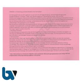 403.1.1 Nachweisheft Fahrten rot Kennzeichen Paragraph 16 FZV Ausgabe Rücknahme 320 Eintragungen 32 Seiten geheftet DIN A5 Seite 1 | Borgard Verlag GmbH
