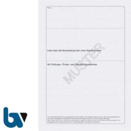 403.2 Liste Verwendung rot Kennzeichen Fahrten Prüfung Probe Überführung FZV 22 Seiten geheftet DIN A4 Seite 1 | Borgard Verlag GmbH