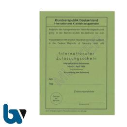 406 Internationaler Zulassungsschein Abkommen 1926 Vertragsstaaten Neobond grün 38 Seiten geheftet DIN A6 Vorderseite | Borgard Verlag GmbH
