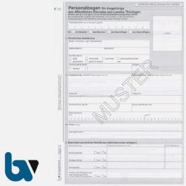 13/112-10 Personalbogen Beamtin Beamter Beschäftigte Öffentlicher Dienst Doppelbogen Thüringen DIN A4 Seite 1 | Borgard Verlag GmbH