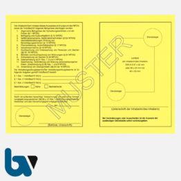 4/881-2 Dienstausweis Verwaltungsvollzugsbeamte Niedersachsen NPOG Polizei Ordnungsbehördengesetz Neobond gelb DIN A5 A6 Rückseite| Borgard Verlag GmbH