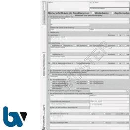 0/485-3 Niederschrift Ermittlung Wildschaden Jagdschaden 4-fach selbstdurchschreibend DIN A4 Seite 1 | Borgard Verlag GmbH