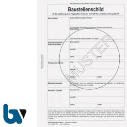 2/780-1.2 Baustellenschild grüner Punkt RLP Bauordnung LBauO Freigestellt Vorhaben Karton DIN A4 Vorderseite | Borgard Verlag GmbH