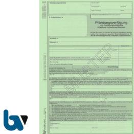 4/815-1 Pfändung Einziehung Verfügung Lohn Gehalt fortlaufende Bezüge Niedersachsen ZPO NVwVG 4-fach selbstdurchschreibend DIN A4 Vorderseite | Borgard Verlag GmbH