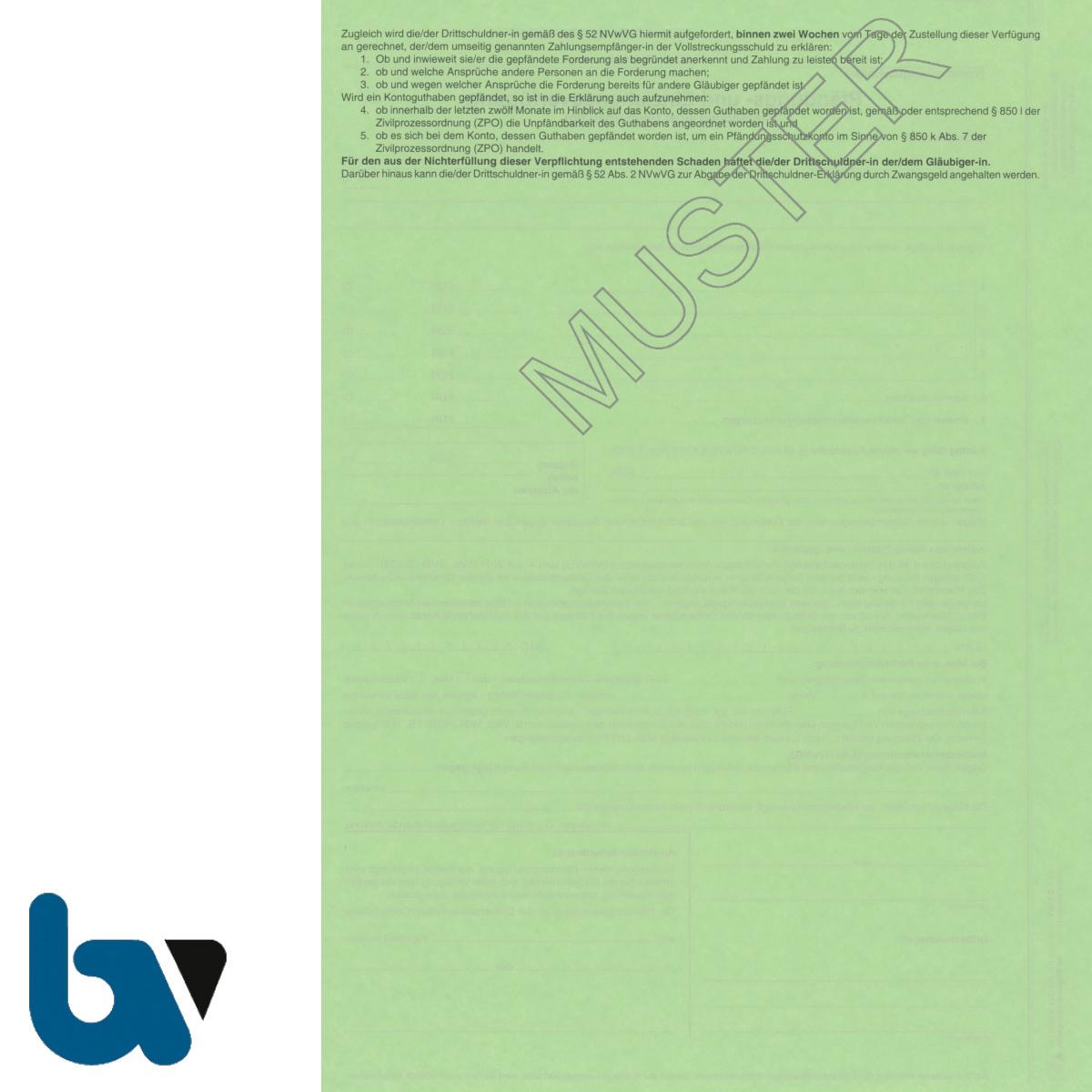 4/815-2 Pfändung Einziehung Verfügung Geldforderung Niedersachsen Vollstreckung ZPO NVwVG 4-fach selbstdurchschreibend DIN A4 Rückseite | Borgard Verlag GmbH