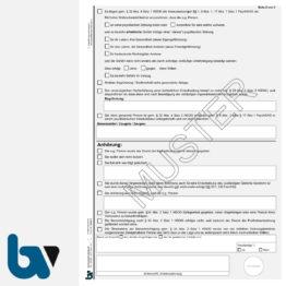 3/443-1 Vorläufige Ingewahrsamnahme Verbringung Krankenhaus Paragraph 32 HSOG Hessen 4 fach selbstdurchschreibend DIN A4 Seite 2 | Borgard Verlag GmbH